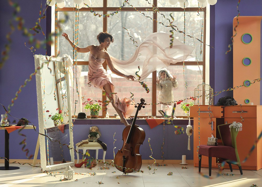這些充滿創意的反重力攝影作品,給人一種混沌而優雅的視覺感受!!!  照片中好像傳來了提琴的聲音...輕快靈動
