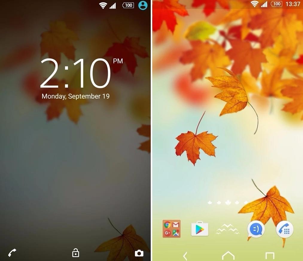 ▶XPERIA_Autumn Theme 最後是主題,XPERIA官方主題出的秋季系列 從鎖定螢幕、主畫面到圖示都增添個人風格 覺得這就是安卓手機的好處啊,可以隨心情更換主題~