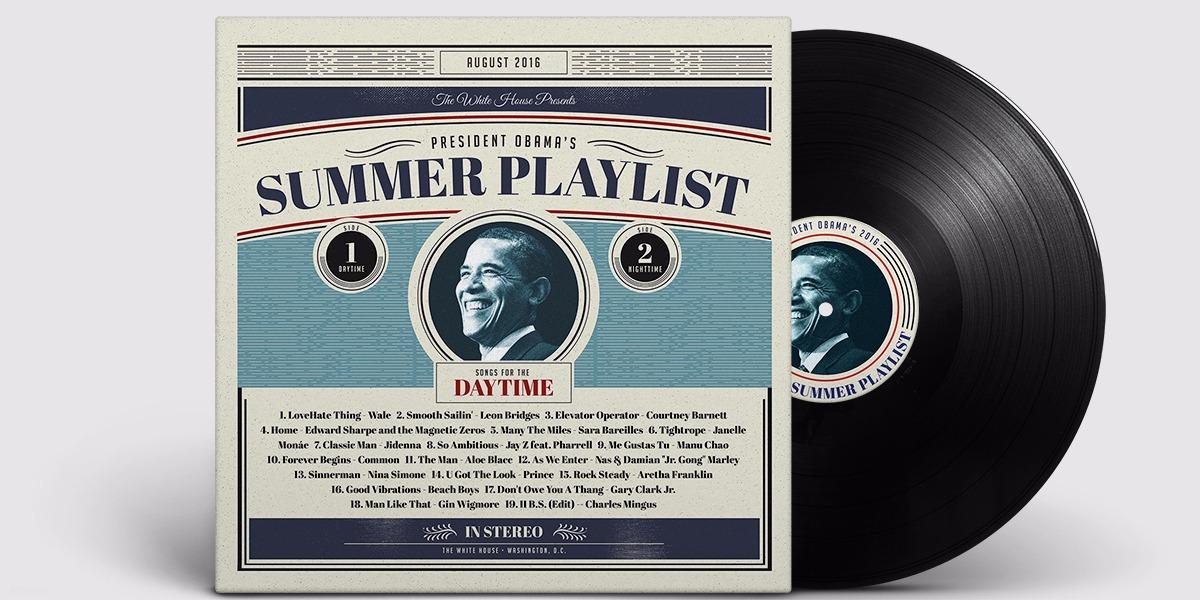 今(2016)年的歐巴馬總統的音樂清單更在1天內就成為Spotify收聽人數最多的個人清單。