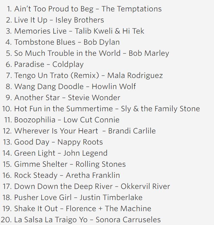 2015 President Obama's Summer Playlist: Day