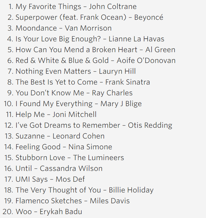 2015 President Obama's Summer Playlist: Night