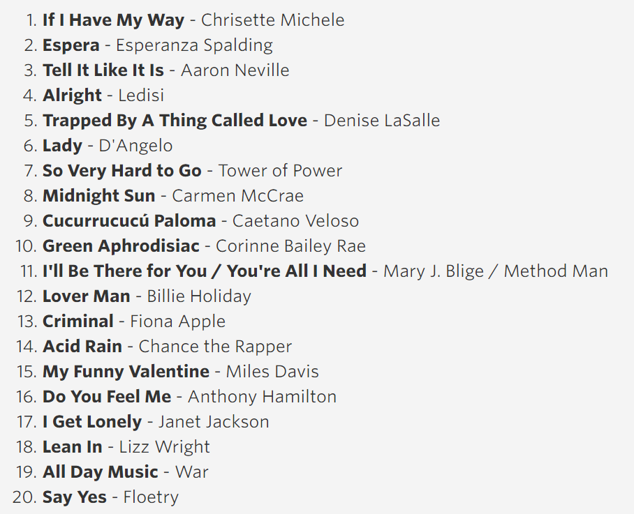 2016 The President's Summer Playlist: Nightime