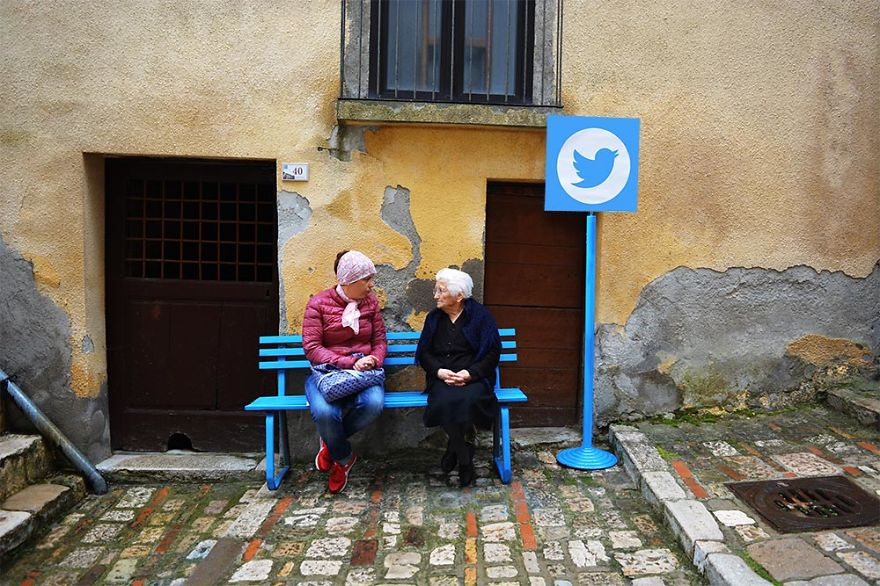 聊天?...爺爺奶奶們也有屬於他們的Twitter哦..「吃飯了嗎?」