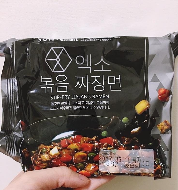 打開來就是一般大小泡麵,有去韓國的人可以在SUM或E-MART超市買到!