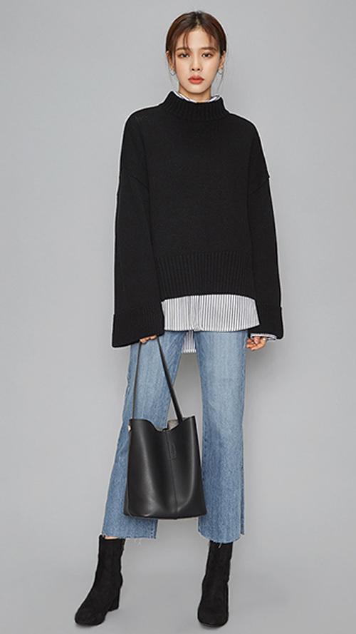 毛衣和牛仔褲的搭配告訴你,經典就是無懈可擊 隨便一個手提包,似乎時尚就被你輕易玩轉!!!