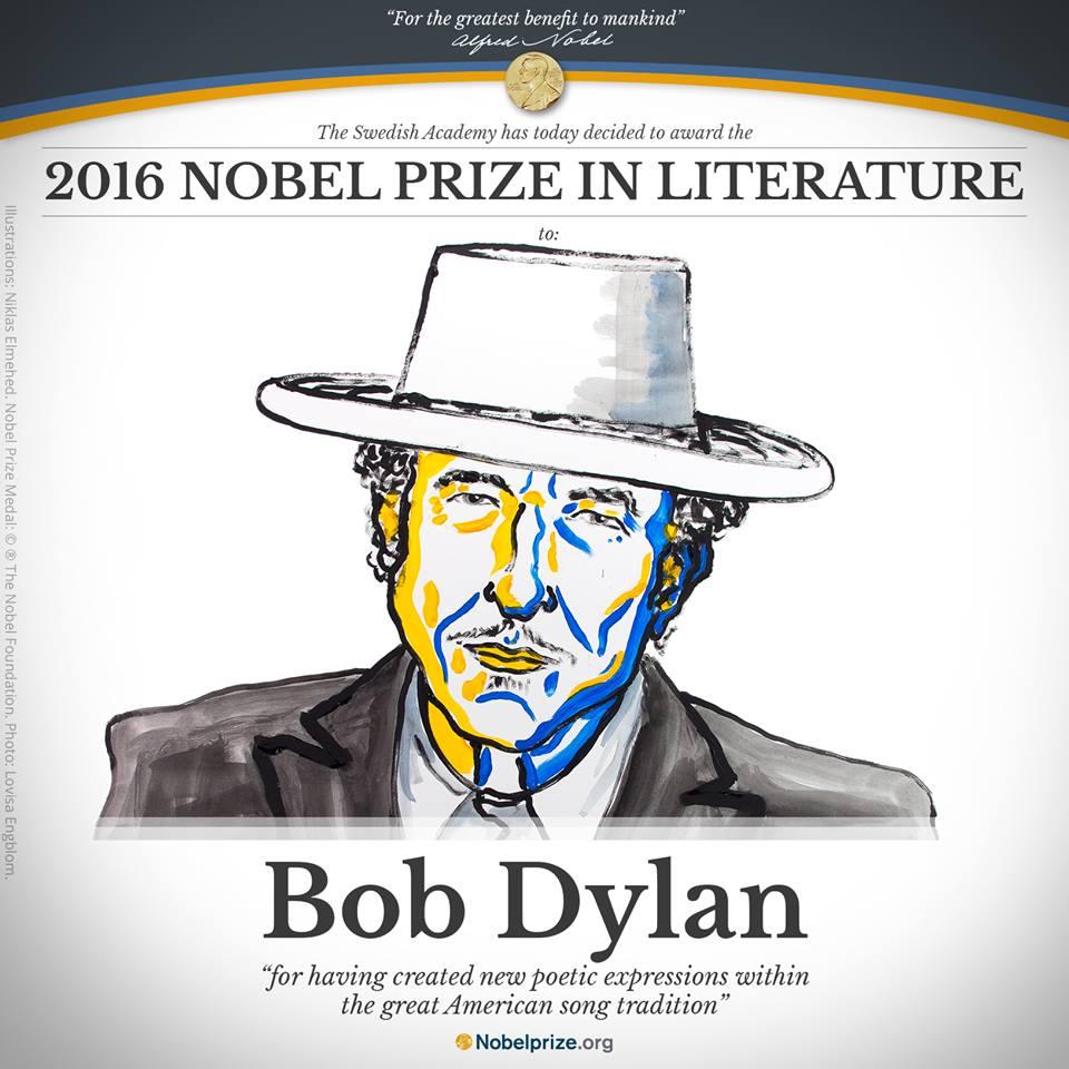 今年的諾貝爾獎也在最近公布,尤其以美國詩人歌手巴布狄倫擊敗原先呼聲最高的村上春樹,拿下文學獎最為讓人津津樂道。