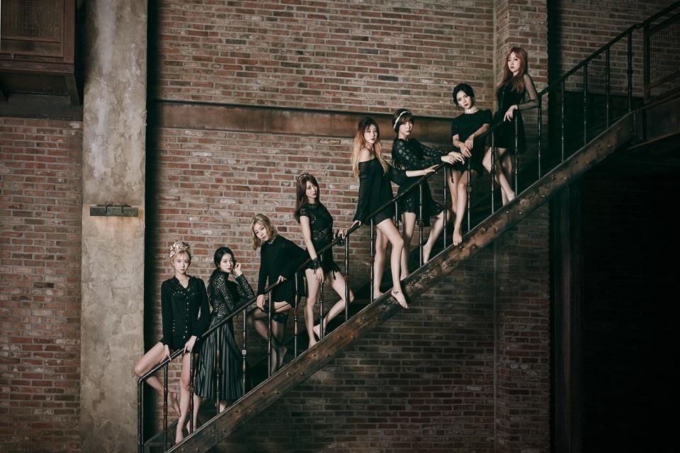 1位 Nine Muses 170.63cm 果然成員幾乎都是模特兒出身~這身高...!!!