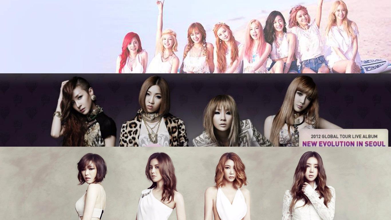 2009年 少女時代 VS. 2NE1 VS. Brown Eyed Girls