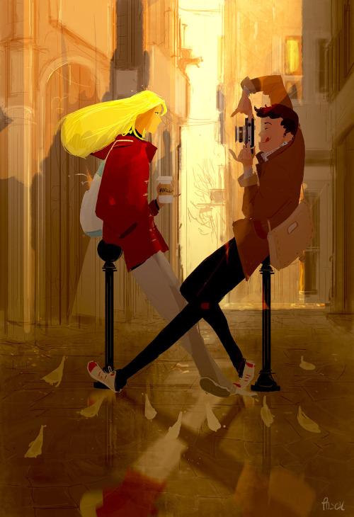 但是美國的插畫師Pascal Campion幾乎每天都有畫畫(好厲害耶)
