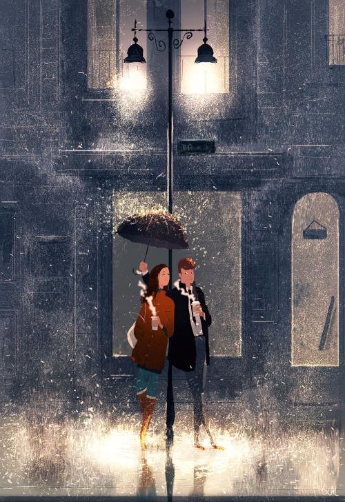 而且他的畫都充滿了溫馨的氛圍 在SNS上也獲得了巨大的人氣^^