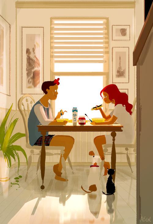 「...我好像重新愛上你了」 「我知道」