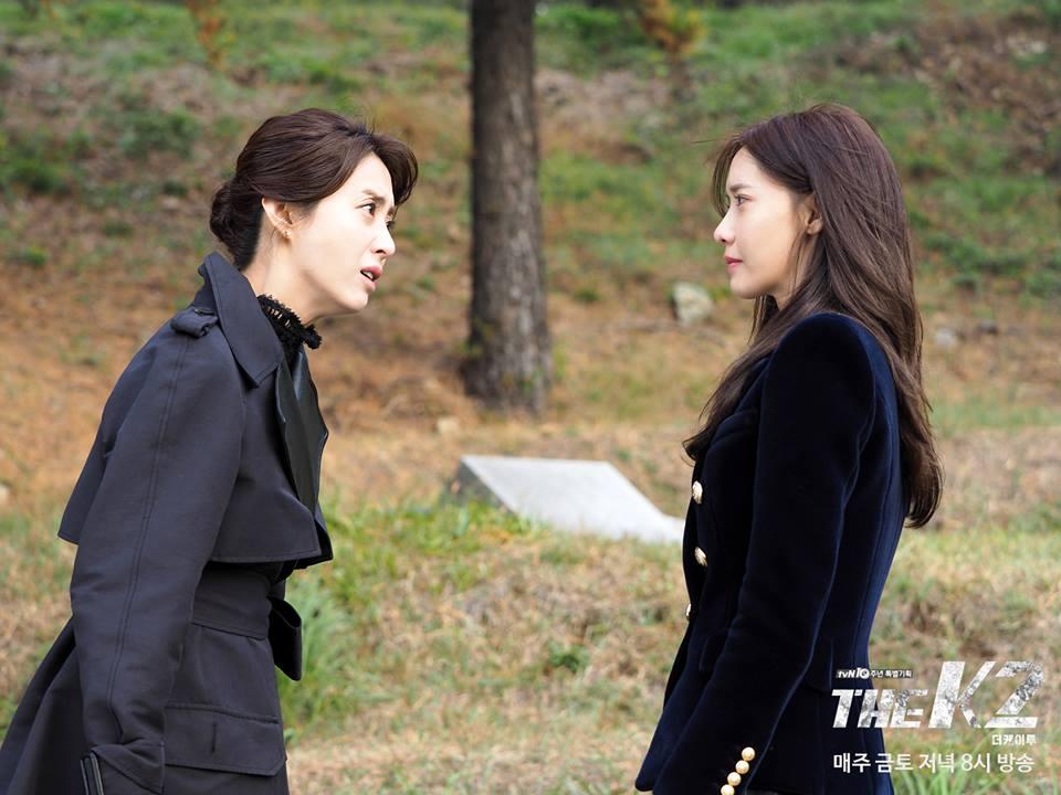 ✿TOP 6- tvN《THE K2》 話題佔有率:3.69% ➔上升1個名次 ※講述一位熱愛國家和同事,卻被拋棄的警衛員金載河(池昌旭飾),被準第一夫人崔宥真(宋玧妸飾)相中聘用為保鑣,化名為「K2」,和與世隔絕的總統候選人私生女高安娜(潤娥飾)之間的故事。