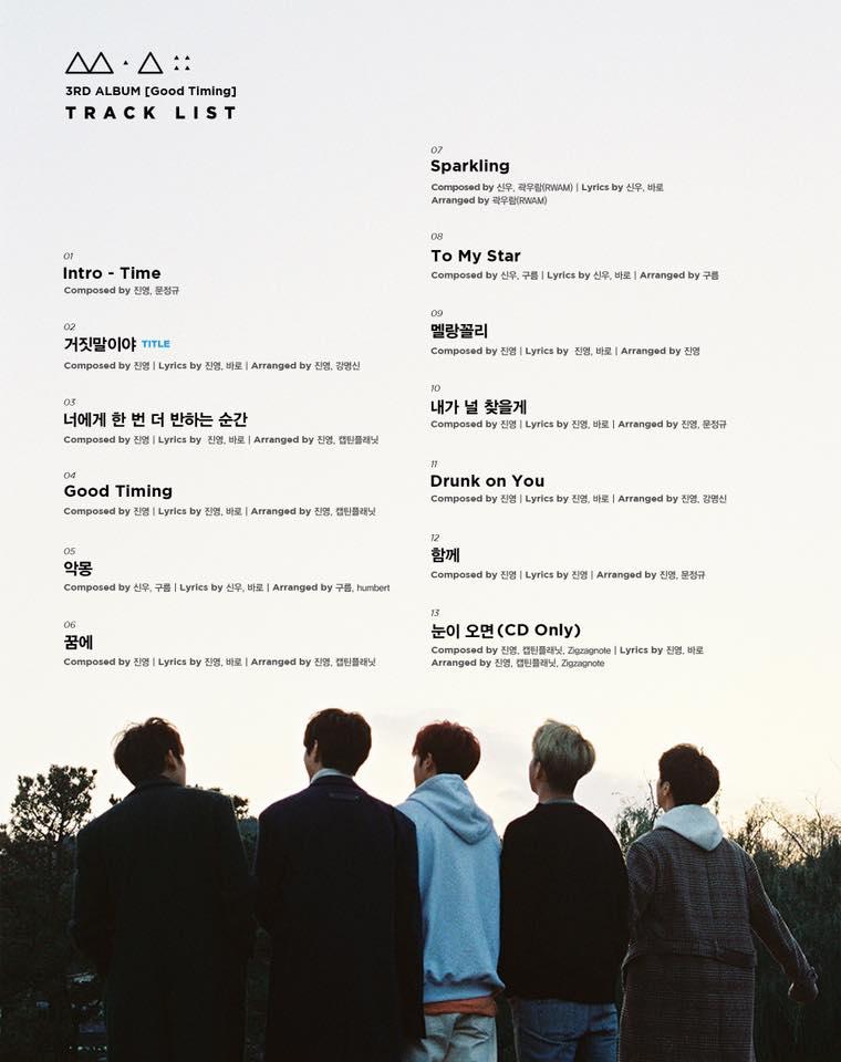 在最新公布的歌單可以發現,振永跟Baro更是囊括了整張專輯的作詞作曲 也再次認證B1A4真的是才華團無誤