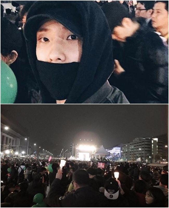 演員李準更不只現身遊行集會現場,更直接上傳了照片表達他自己的立場,雖然被不少人大讚關心時事、敢於發言,但仍有不少粉絲擔心在韓國總統透過發言人表示「不會下台、不會接受調查」的狀況下,這些敢於發聲的演員是否會受到打壓