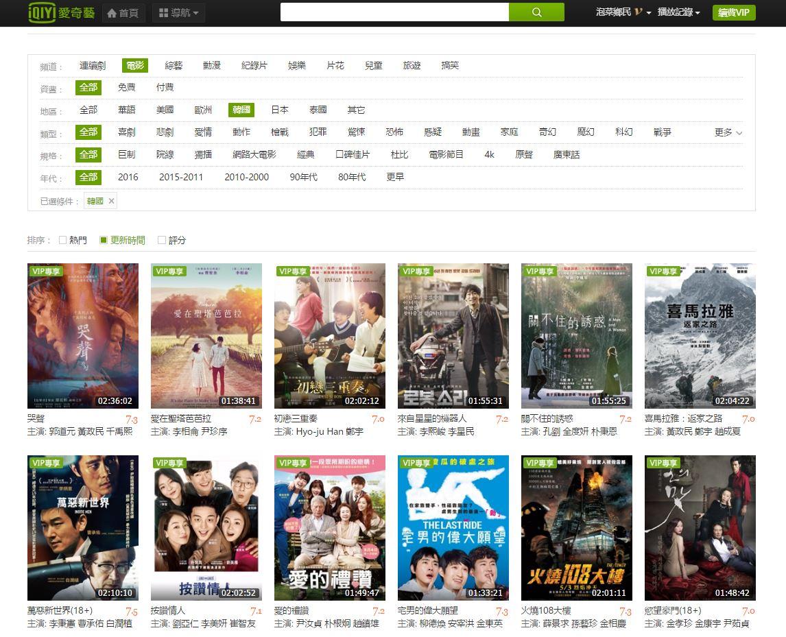 不僅有超多部跟播韓國的熱門韓劇、綜藝、音樂節目和電影,,甚至連台灣、中國等地最熱門的影音內容都能在這個平台上找到!