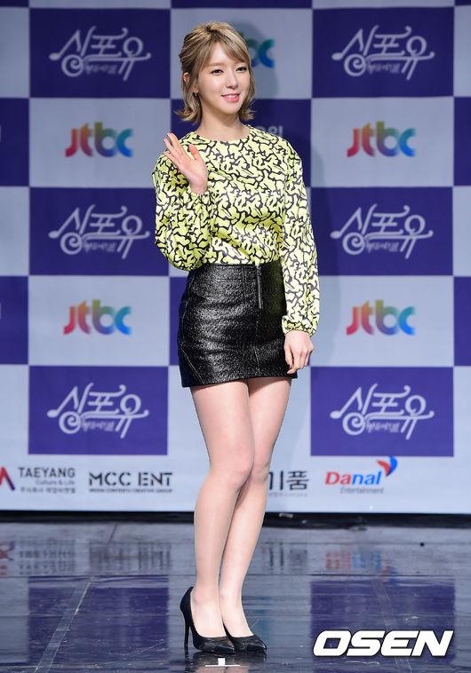 就是這一雙蜜大腿再度讓韓國網友瘋狂阿~~不少人還表示如果草娥再長高一點,絕對有機會成為AOA的門面擔當!