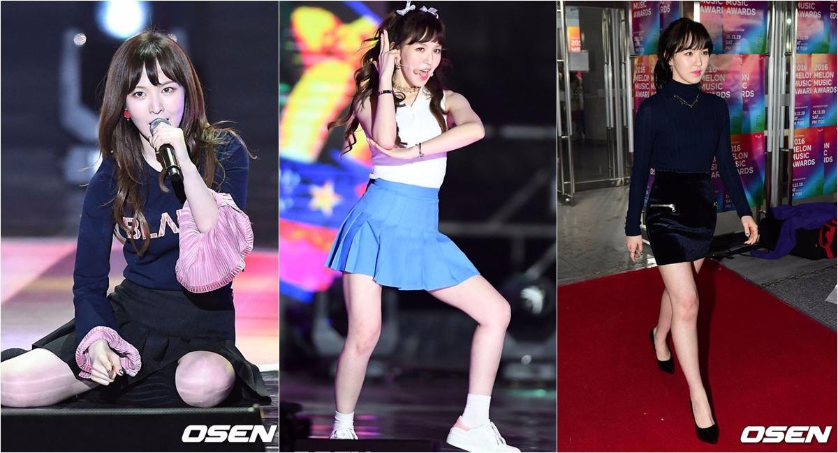 雖然這次Red Velvet 回歸後被大讚漂亮,但看到Wendy為了上鏡頭好看,實際上本人瘦到只剩「鳥仔腳」,想必不少粉絲還是很心疼吧!