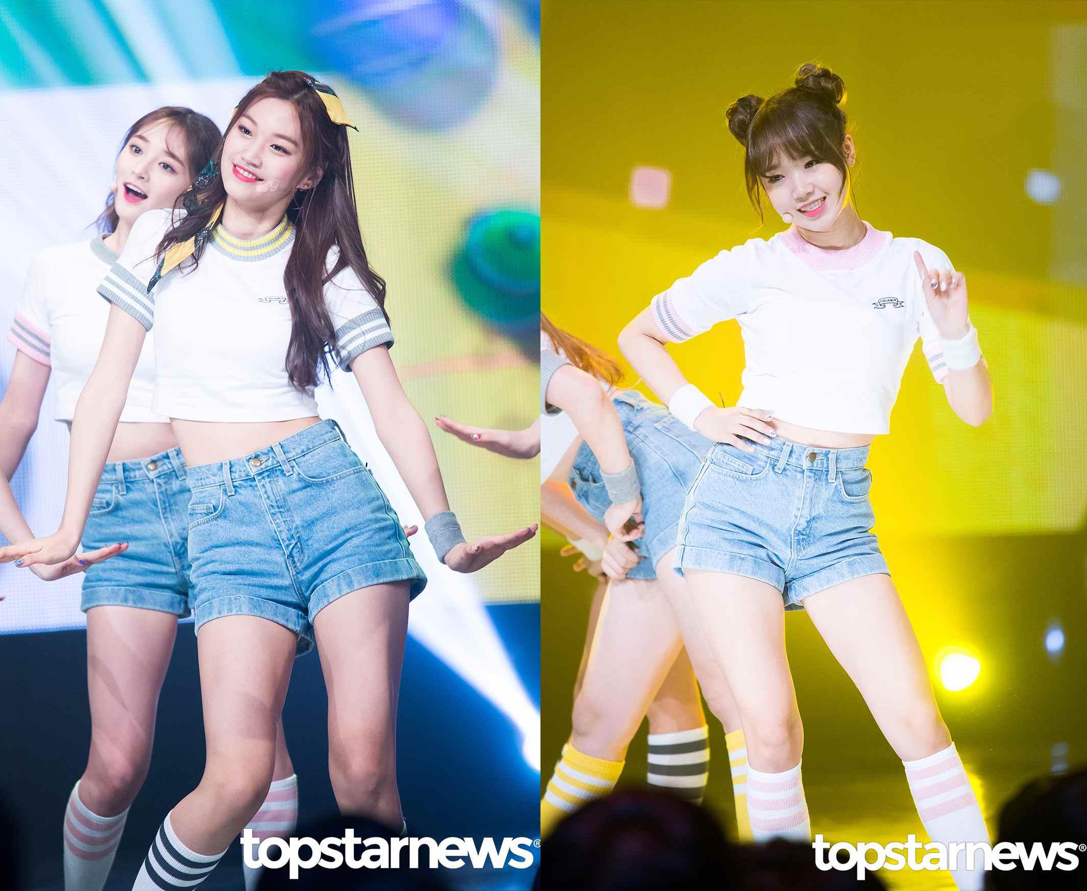 #有情、度延 首先是同屬一間公司的「長短CP 」有情和度延, 目前經紀公司Fantagio正在進行預備2017年出道的女團選秀活動, 所以這也讓很多韓國網友猜測有情和度延可能會成為2017年出道的女團成員。
