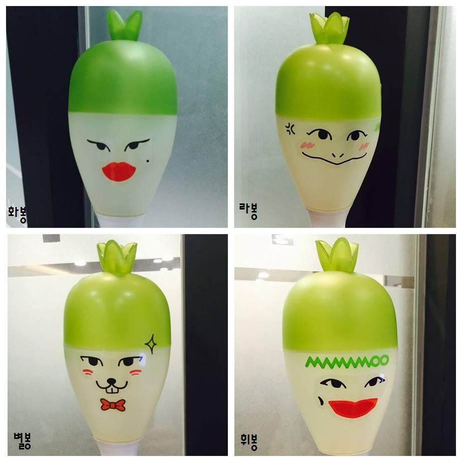 韓國粉絲們演唱會的必備物品就是應援棒,小編覺得女團中最奇特應援棒絕對是MAMAMOO的蘿蔔棒啊~~~