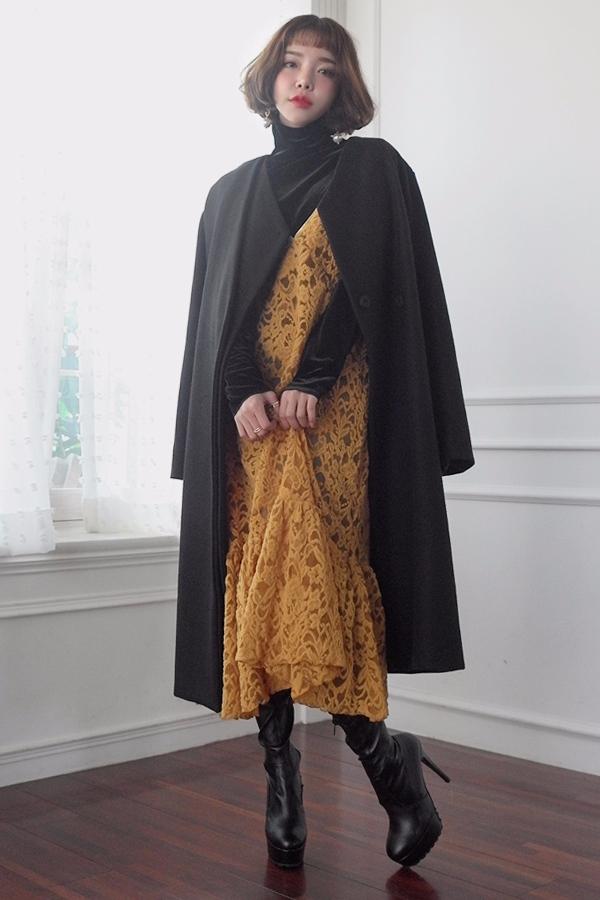 還是充滿學院風的氣質開襟羊毛大衣 (穿上走路帶風,超顯氣場der)