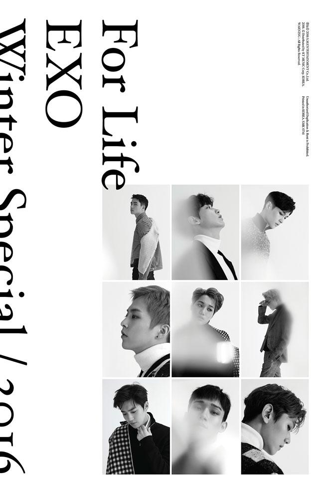 EXO《For Life》 每一年都會發行冬季專輯的EXO今年也推出暖暖的聖誕歌曲啦,溫柔的旋律在冷冷的冬天裡聽特別溫暖~另外小編自己也很喜歡12月的奇蹟中的初雪唷!