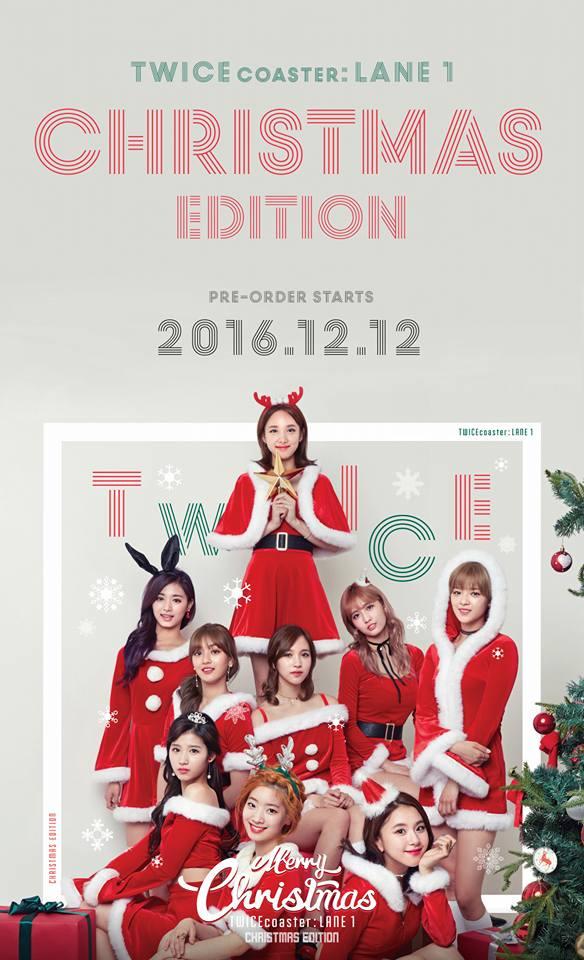 TWICE 《TWICEcoaster : LANE 1》 TWICE 9名成員在這次聖誕專輯中將化身聖誕老人,美美的造型ONCE們都準備掏錢了嗎XDD