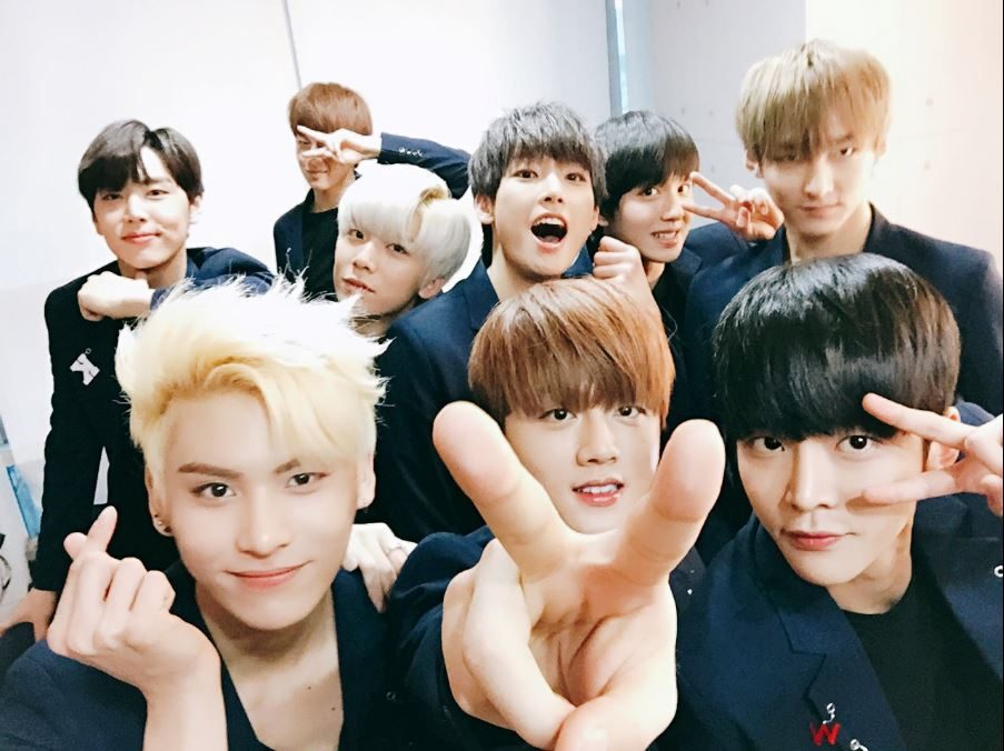 SF9(에스에프나인)-FNC娛樂 「Sensational First 9」-「Sensational」代表他們是讓大家驚豔的少年們;「First」是 FNC娛樂首次推出的舞蹈男團,也有希望他們登上頂端的意思;「9」一方面代表9位團員,一方面取其諧音「久」,希望他們能長久活動。