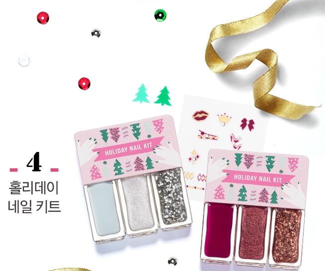 最後,就是送禮首選指甲油組啦~~~~~ 超可愛的包裝,印有冬天的代表聖誕樹圖案,可愛又實用!
