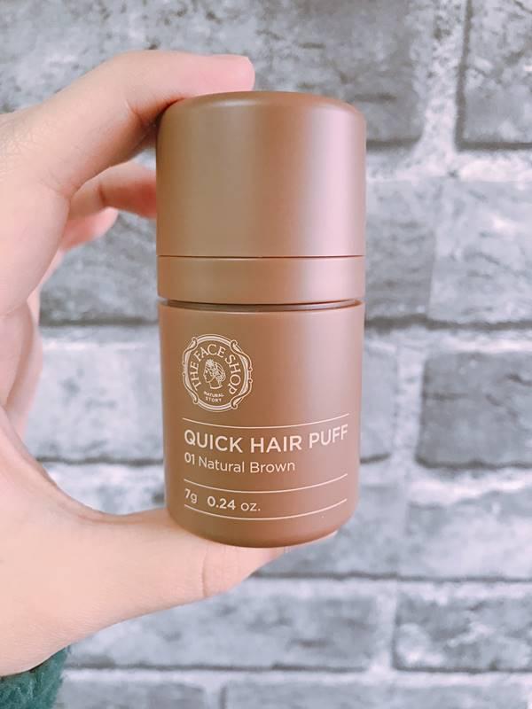 所以這時候當然要試試看法寶!就是這罐THE FACE SHOP的自然遮色氣墊髮粉啦啦~歐膩選擇的是01自然棕
