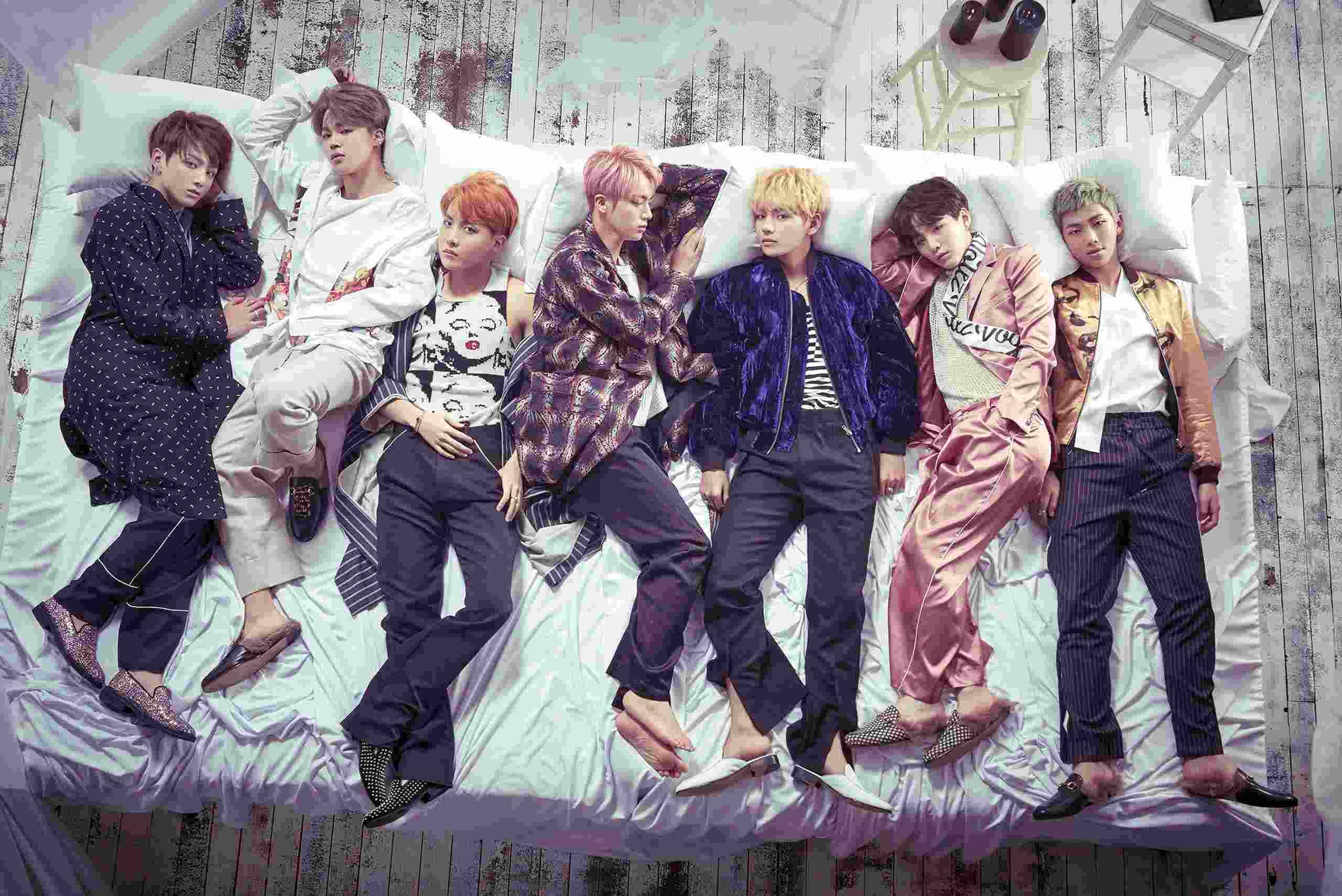 BTS防彈少年團無論在韓國國內或是全球各地都有相當高的人氣,歌曲還是舞蹈的實力都是大家有目共睹的,成為近年來的大勢男團代表之一