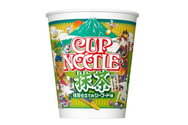 日本很有名的日清泡麵  今年就推出「抹茶杯麵」
