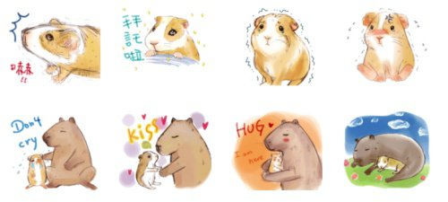 《豚哥鼠弟》貼圖除了貼切地傳達了上班族各種無奈心聲,溫暖筆觸的插畫風格也好療癒人心啊!你身邊也有個像豚哥鼠弟這樣互相扶持的對象嗎?記得把貼圖送給他說聲謝謝啊!