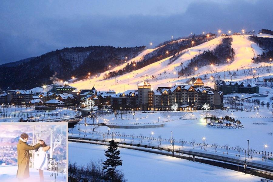 ♯ 龍平滑雪場 這裡是鬼怪找到鬼怪新娘的滑雪場。漫天的冰雪再加上兩人之間猶豫的氛圍,營造出一種淡淡的悲傷感。另外2018年的平昌冬奧會也會在龍平滑雪場設置比賽項目,還有我wuli宋家三兄弟也去滑過雪哦n(*≧▽≦*)n 地址:江原道平昌郡大關嶺面奧林匹克路715龍平里度假村          강원도 평창군 대관령면 올림픽로 715용평리조트