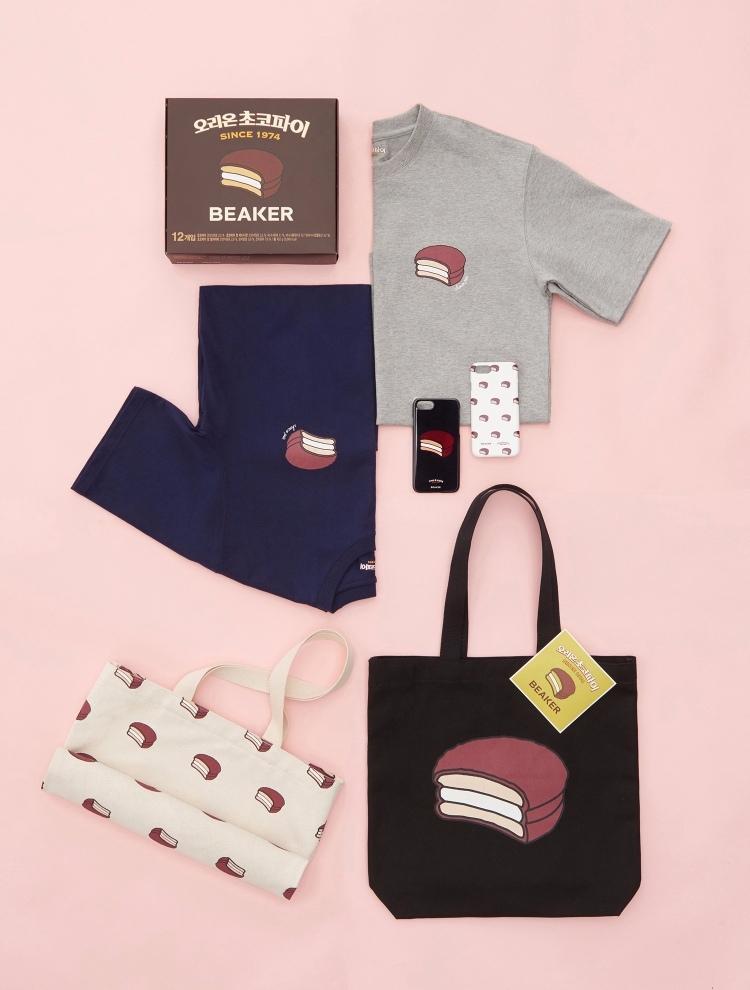 為迎合2月14日情人節,情巧克力派聯合BEAKER推出了「巧克力派(情)限量版collection」! ☞ 由T恤、環保袋、手機殼和巧克力派組成