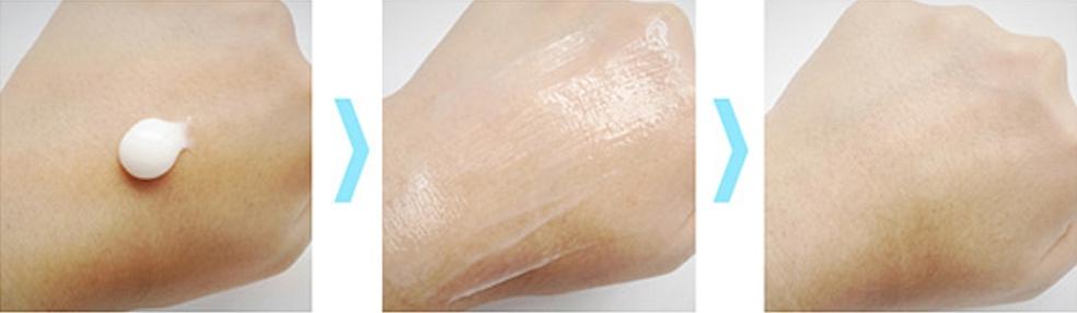 在手上輕輕一抹就像冰淇淋一樣化開,清清爽爽的保濕感一瞬間就滿足乾燥的肌膚!