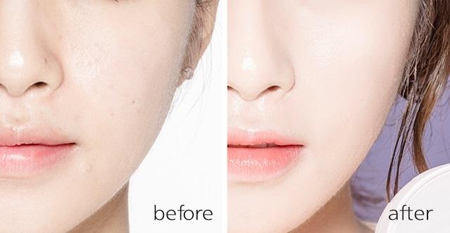 使用在臉上不但可以遮住臉部瑕疵,也能夠提升臉部光澤。
