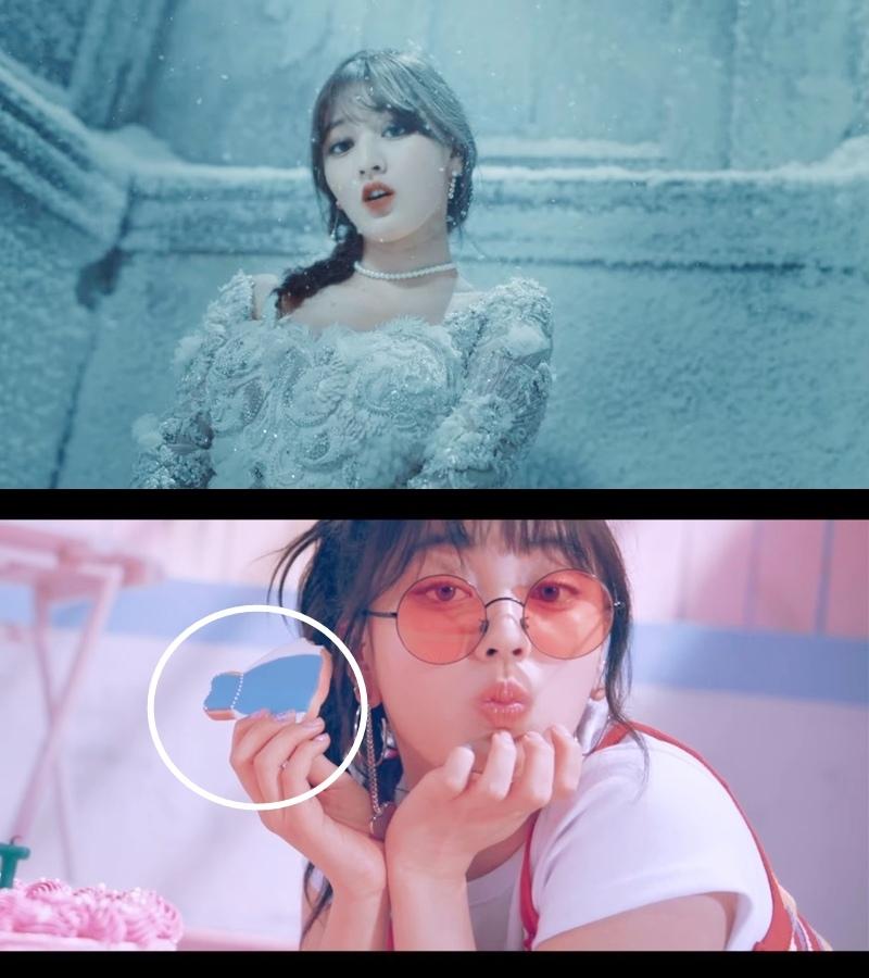 韓文版MV — 志效扮演《冰雪奇緣》裡的艾莎 日文版MV — 手上拿艾莎造型的餅乾