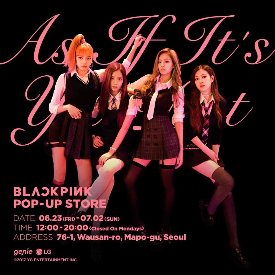BLACKPINK出道後的首次POP-UP STORE也在6/23-7/2開放,裡面也展示了這次新歌的幕後照片及MV服裝,有機會去的粉絲們都可以去逛逛!不過粉絲們有發現YG社長對BLACKPINK的某位成員非常疼愛嗎~~