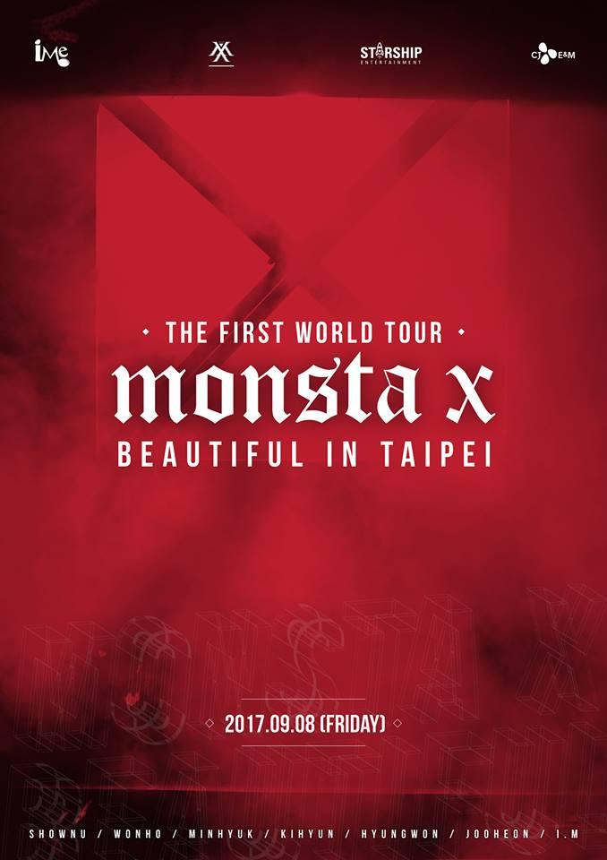 而MONSTA X 也宣布9月8日即將到台灣舉行首場演唱會,粉絲們都做好掏錢的準備了嗎XDDD