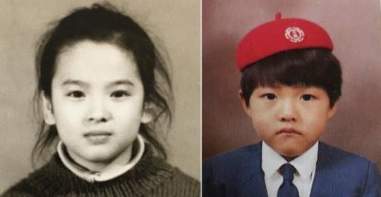 網友找了宋慧喬和宋仲基小時候的照片 (超可愛>______<)