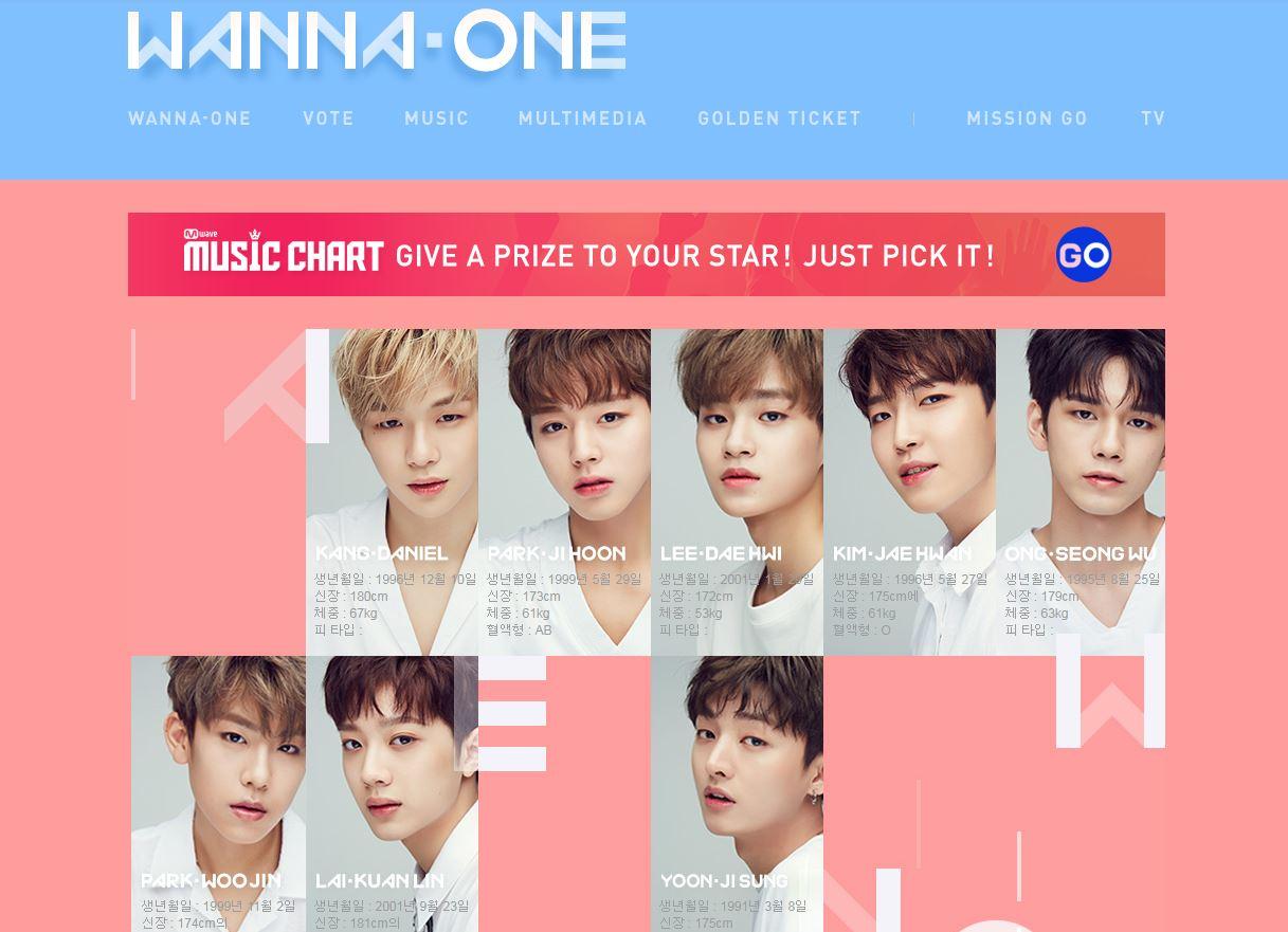 後來Wanna One也更新了大頭貼照片,讓不少粉絲鬆一口氣,畢竟還沒出道就要惹上這樣的風波,任誰都不願意看見的ㅠㅠ,但後來官網又在度換上新的顏色,依舊是以藍色及粉色為主...