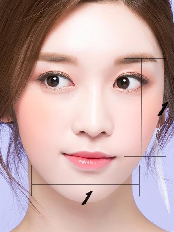 首先你可以拿出你的尺做測量,從眼睛到下巴的地方是長度,兩側腮幫子是寬,依照長寬的比例選擇適合的劉海。若比例為1:1,則是瓜子臉。若長寬比例為2:3,則是圓臉。若長寬比為3:2,則是長臉女孩。