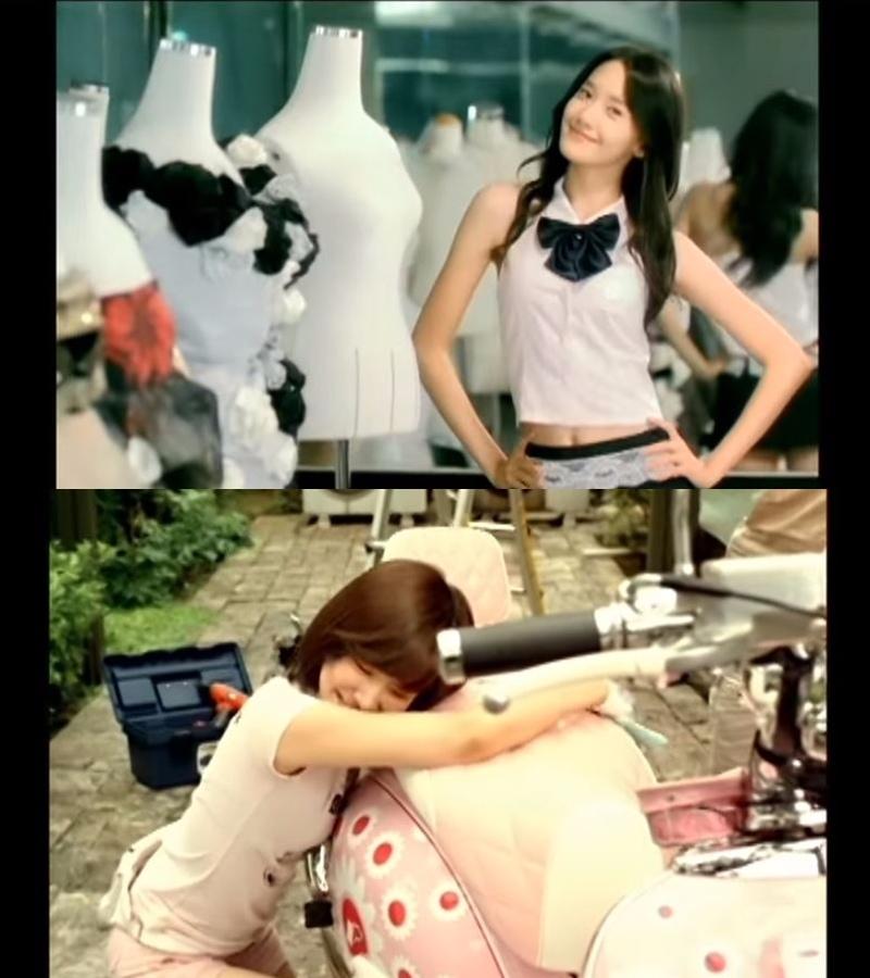 至於網友是從哪裡找出這個玄機呢?答案就在少女時代10年前《再次重逢的世界》的MV中,潤娥扮演一名裁縫師,Tiffany則是與摩托車一起出鏡(不愧是粉紅帕妮,連摩托車都是粉紅色的XDD)