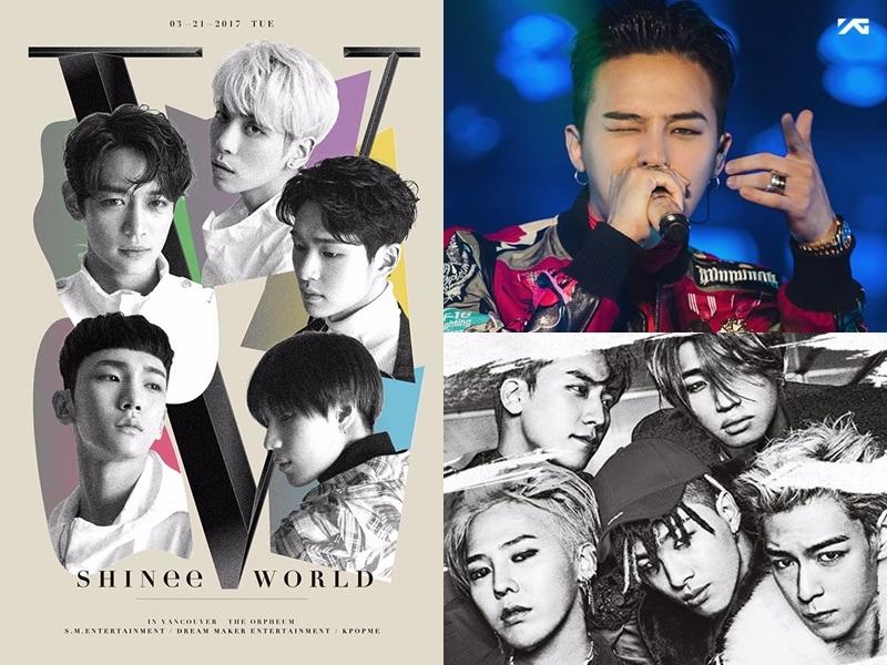 共同7位  BIGBANG-一天一天 SHINee-Dream Girl G-Dragon-ONE OF A KIND 各獲得了兩票。 相信這幾首歌在粉絲的心中都是所謂的
