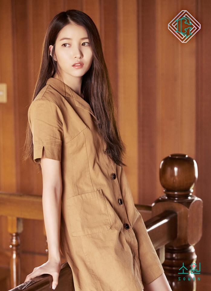 △Sowon Sowon這款則是和Yerin頗為雷同,長度大概都是到大腿的一半,可以完美呈現腿部線條。衣服顏色則是以土黃色為主,一樣是近期的大勢。