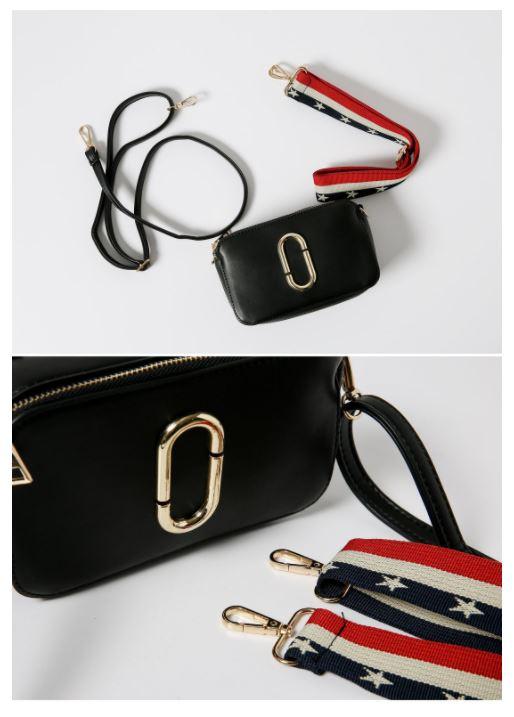或是像這種更換成彩色背袋或大鐵環的設計也是最近非常流行的搭配!