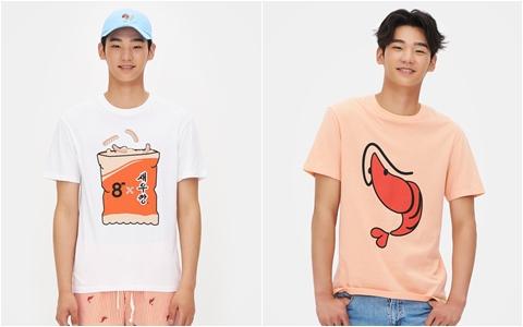 這個T恤是不是搞笑又可愛XD熱愛吃蝦餅乾的人說不定很喜歡!走在路上絕對是眾人焦點!