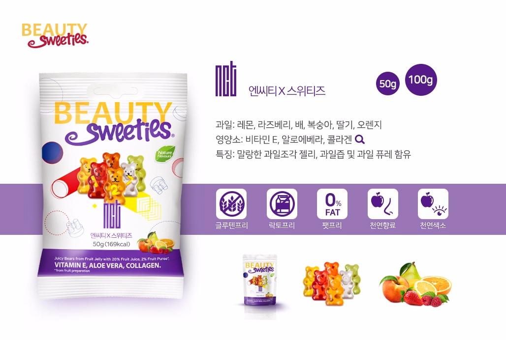 最後就是我們的SM忙內團體NCT127~這款口味也很豐富!是檸檬+覆盆子+梨子+桃子+草莓還有柳橙~造型是非常經典的小熊!(包裝上的小熊還拿著數字127ㅋㅋ)