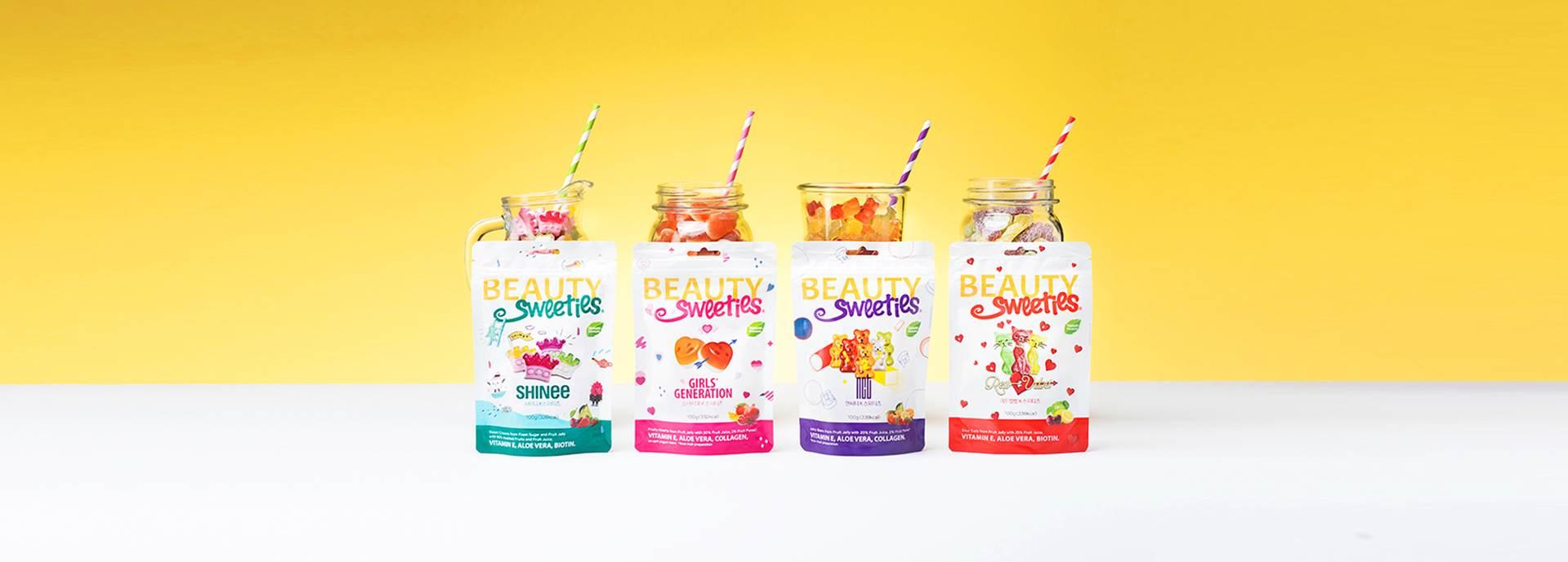 而這次進駐韓國總共與SM旗下的四組偶像團體推出了聯名糖果!感覺以後會更多啊!!