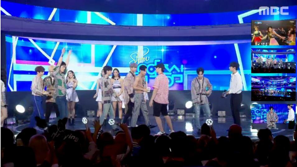 而最近和少時同期發片的EXO,似乎和師姐因為「太熟」,所以暫時讓世勳忘了在舞台上。竟然在安可舞台上忍不住在師姐面前跳起舞來